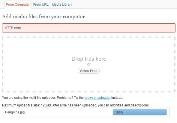 """Solución al error """"HTTP error"""" en WordPress"""