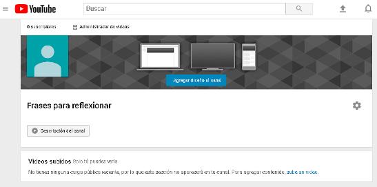 Personalizar un canal de Youtube