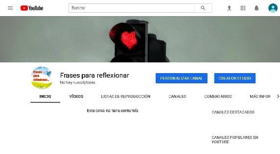 Canal de Youtube personalizado