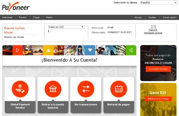 Cómo crear una cuenta Payoneer en El Salvador acceso a la cuenta