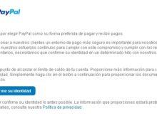 Cómo hacer la confirmacion de identidad en PayPal