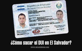 Cómo sacar el DUI en El Salvador