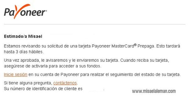 ¿Cómo solicitar la tarjeta Payoneer?
