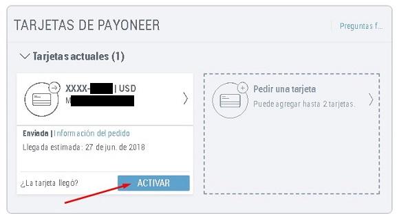 ¿Cómo activar la tarjeta Payoneer?