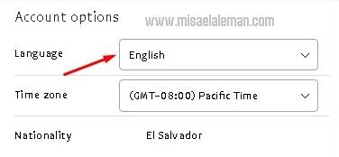 Paso 2: Cambiar el idioma en PayPal