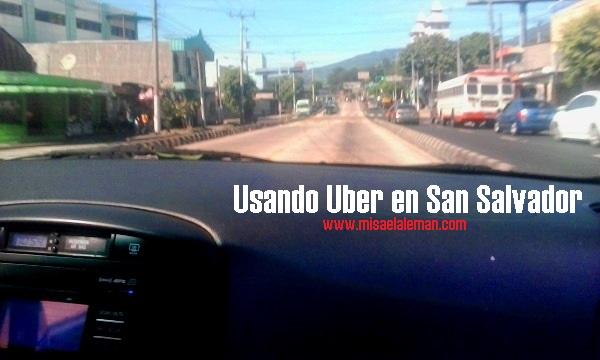 Usando uber en El Salvador