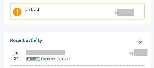 Los pagos retenidos por 24 horas en PayPal